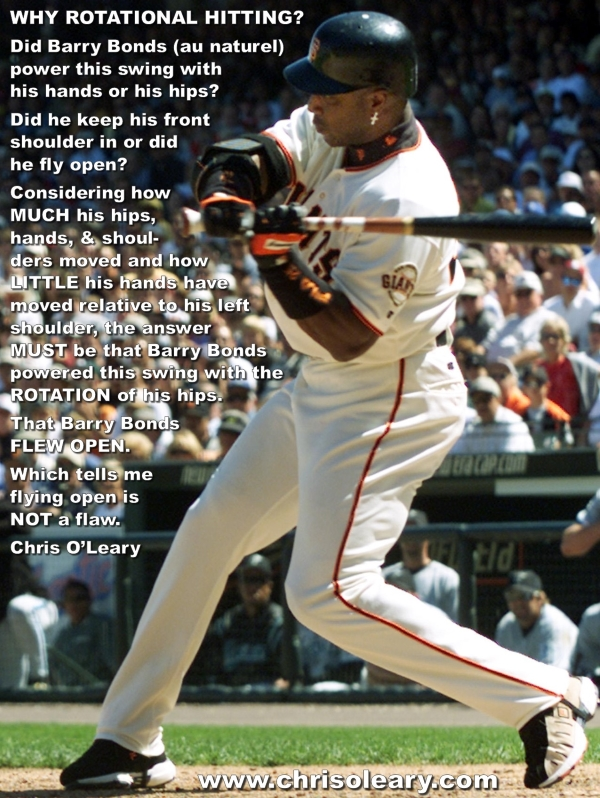 Rotational hitting 101 barry bonds demonstrating rotational hitting fandeluxe Image collections