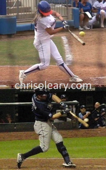 Video Clip Comparison of the Swings of Evan Longoria and Megan Bush