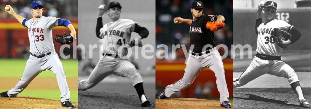 Comparison of Nolan Ryan, Tom Seaver, Matt Harvey, and Jose Fernandez