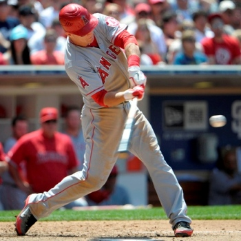 Mike Trout Hitting A Homerun Mike Trout  Angels  As of